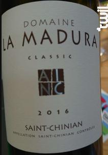 La Madura Classic - Domaine La Madura - 2016 - Rouge