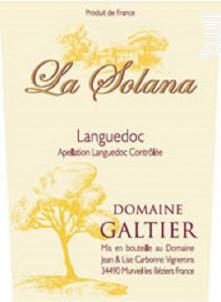 La Solana - Domaine Galtier - 2014 - Rouge