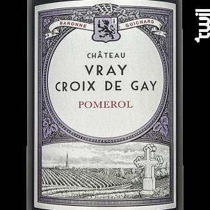 Château Vray Croix de Gay - Château Vray Croix de Gay - 2018 - Rouge