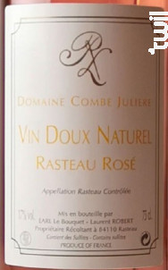 Une Seule Cuvée / Vin Doux Naturel - Domaine de la Combe Julière - Non millésimé - Rosé
