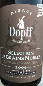 Gewurztraminer Sélections de Grains Nobles - Dopff Au Moulin - 2008 - Blanc