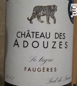 Le Tigre Faugères - Château des Adouzes - 2017 - Rouge