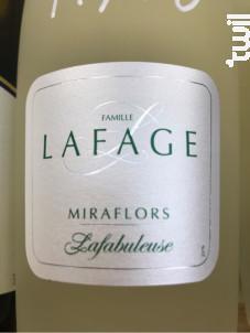 Miraflors Lafabuleuse - Domaine Lafage - 2018 - Blanc