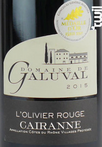 L'Olivier Rouge - Galuval - 2015 - Rouge