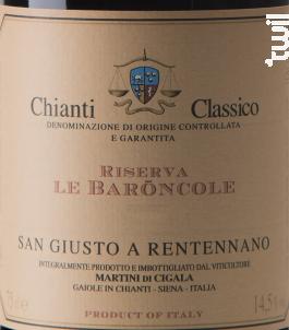 Chianti classico Riserva Baroncole - San Giusto a Rentennano - 2014 - Rouge