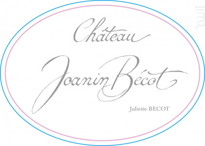CHÂTEAU JOANIN BECOT - Juliette Bécot - 2014 - Rouge