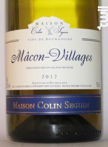 Mâcon Villages Terroir - Maison Colin Seguin - 2012 - Blanc