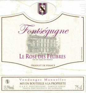 Le rosé des Félibres - Chateau de Fontségugne - 2014 - Rosé
