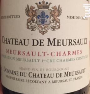 Meursault-Charmes Premier Cru - Château de Meursault - 2013 - Blanc