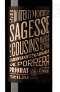 LES COUSINS SAGESSE - CIMS DE PORRERA - 2010 - Rouge
