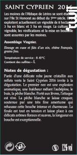 Saint-Cyprien - Abbaye de Lérins - 2016 - Blanc
