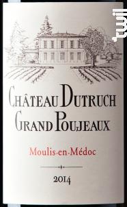 Château Dutruch Grand Poujeaux - Château Dutruch Grand Poujeaux - 2014 - Rouge