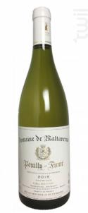 Maltaverne Pouilly Fumé - Domaine de Maltaverne - 2014 - Blanc