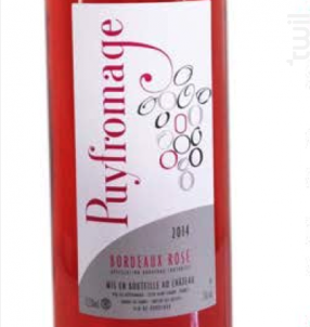 Puyfromage Rosé - Château Puyfromage - 2019 - Rosé
