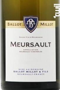 Meursault - Domaine Ballot-Millot - 2016 - Blanc