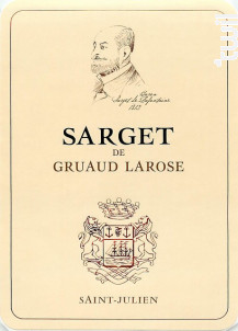 Sarget de Gruaud-Larose - Château Gruaud-Larose - 2014 - Rouge