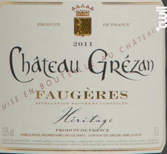 Cuvée Héritage - Famille Cros-Pujol - Château Grézan - 2016 - Rouge