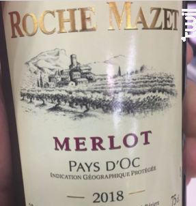 Merlot - Roche Mazet - 2018 - Rouge