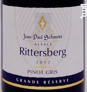 Pinot Gris Rittersberg Grande Réserve - Domaine Jean-Paul Schmitt - 2012 - Blanc