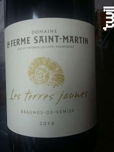 Les Terres Jaunes - Domaine La Ferme Saint-Martin - 2016 - Rouge
