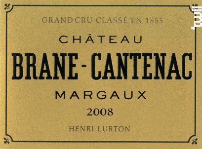 Château Brane Cantenac - Château Brane Cantenac - 2008 - Rouge