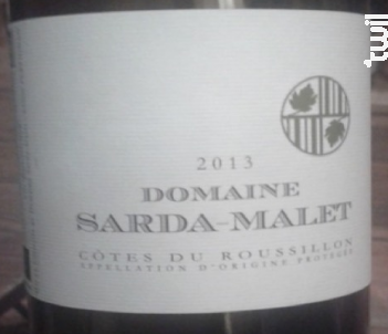 Côtes du Roussillon - Domaine Sarda-Malet - 2013 - Rouge