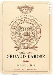Château Gruaud Larose - Château Gruaud-Larose - 2010 - Rouge