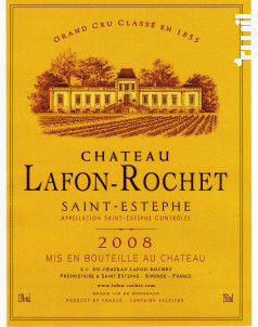 Château Lafon-Rochet - Château Lafon-Rochet - 2008 - Rouge