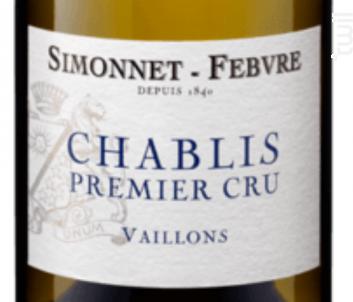 Chablis 1er Cru Vaillons - Simonnet Febvre - 2016 - Blanc