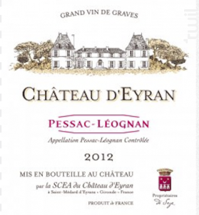 Château d'Eyran - Château d'Eyran - 2012 - Rouge
