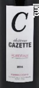 Château Cazette - Château Cazette - 2015 - Rouge