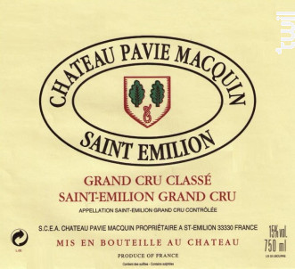 Château Pavie Macquin - Château Pavie Macquin - 2011 - Rouge