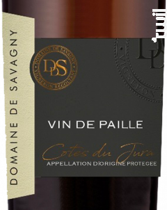 Vin de Paille - DOMAINE DE SAVAGNY - 2015 - Blanc