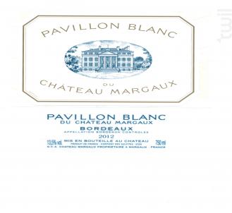 Pavillon Blanc du Château Margaux - Château Margaux - 2014 - Blanc