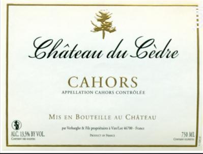 Château du Cèdre - Château du Cèdre - 2011 - Rouge
