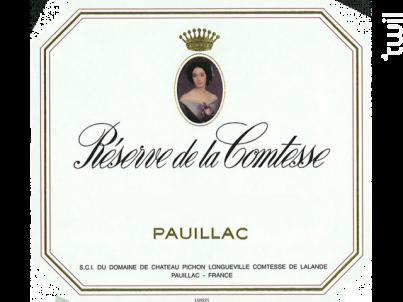 Réserve de la Comtesse - Château Pichon Longueville Comtesse de Lalande - 2014 - Rouge