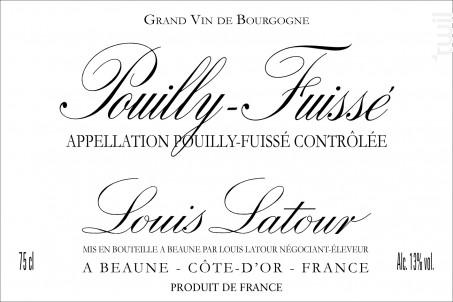 Pouilly-Fuissé - Maison Louis Latour - 2016 - Blanc