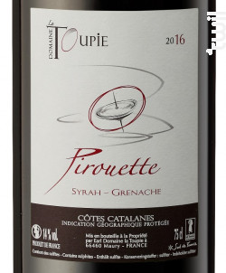 PIROUETTE - Domaine La Toupie - 2017 - Rouge
