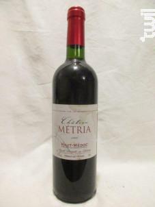 Château Métria - Château Métria - 1999 - Rouge