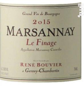 Le Finage Rene Bouvier - Domaine René Bouvier - 2017 - Rouge