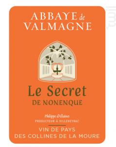 LE SECRET DE FRÈRE NONENQUE - Abbaye de Valmagne - 2016 - Rouge