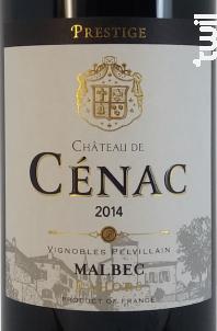 Château de Cénac Cuvée Prestige - Vignobles Pelvillain - 2015 - Rouge