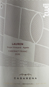 Lauren's vineyard - CABERNET FRANC - Casarena - 2017 - Rouge