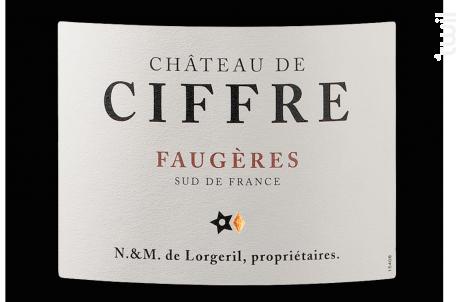 Château de Ciffre - Grand Vin - Maison Lorgeril - 2014 - Rouge