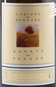 Quarts de Chaume - Château de Suronde - 2010 - Blanc