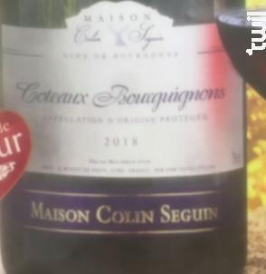 Coteaux Bourguignons - Terroir - Maison Colin Seguin - 2018 - Rouge
