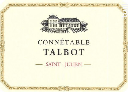 Connétable de Talbot - Château Talbot - 2015 - Rouge