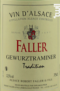 Gewürztraminer Tradition - Robert Faller et Fils - 2018 - Blanc
