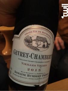 Gevrey-Chambertin Premier Cru Poissenot - Domaine Humbert Frères - 2016 - Rouge