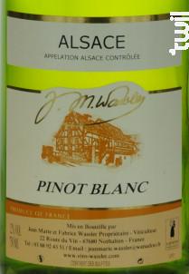 Pinot Blanc - EARL WASSLER Jean-Marie et Fabrice - 2016 - Blanc